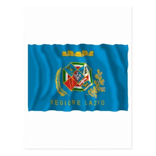 Bandera que agita de Lazio Tarjetas Postales
