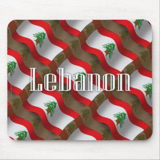 Bandera que agita de Líbano Alfombrillas De Ratones