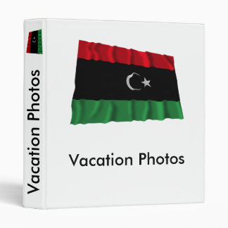Bandera que agita de Libia