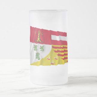 Bandera que agita de Liège Taza Cristal Mate