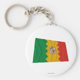 Bandera que agita de Los Ángeles Llavero