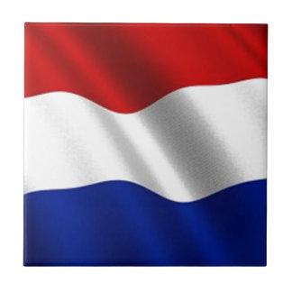 Bandera que agita de los Países Bajos Azulejo Cuadrado Pequeño