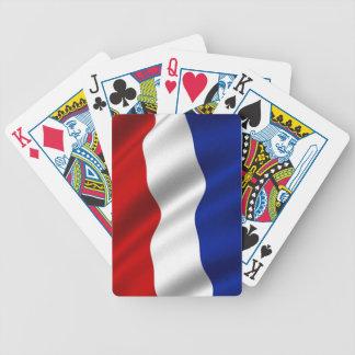 Bandera que agita de los Países Bajos Baraja Cartas De Poker