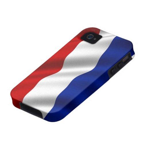 Bandera que agita de los Países Bajos Case-Mate iPhone 4 Funda