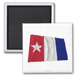 Bandera que agita de los voluntarios de Harrisburg Imán De Frigorifico