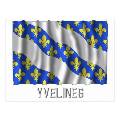 Bandera que agita de los Yvelines con nombre Tarjetas Postales