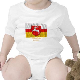 Bandera que agita de Lubelskie - de Lublin con Trajes De Bebé