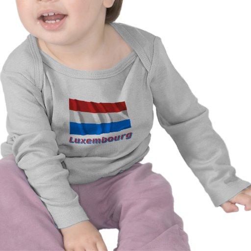 Bandera que agita de Luxemburgo con nombre Camisetas