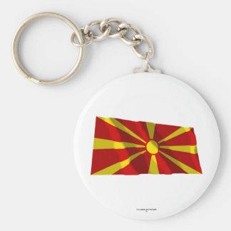 Bandera que agita de Macedonia Llavero Personalizado