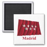 Bandera que agita de Madrid con nombre Iman De Frigorífico