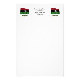 Bandera que agita de Malawi con nombre Papeleria