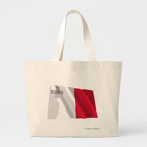 Bandera que agita de Malta Bolsa