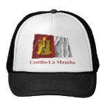 Bandera que agita de Mancha del Castilla-La con no Gorro De Camionero