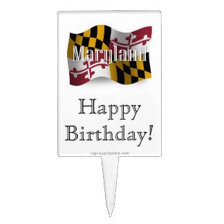 Bandera que agita de Maryland Palillos De Tarta