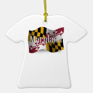 Bandera que agita de Maryland Ornamento Para Reyes Magos