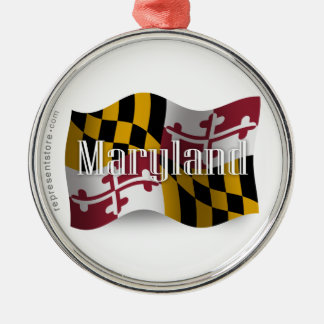 Bandera que agita de Maryland Ornamentos Para Reyes Magos