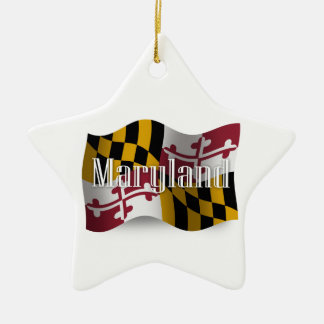 Bandera que agita de Maryland Adornos