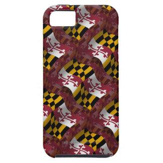 Bandera que agita de Maryland iPhone 5 Case-Mate Cárcasa