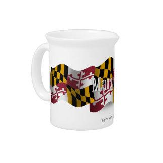 Bandera que agita de Maryland Jarrón