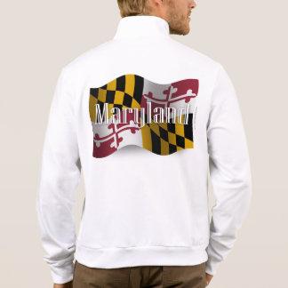 Bandera que agita de Maryland Chaquetas Imprimidas