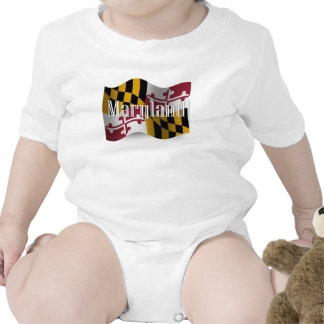 Bandera que agita de Maryland Trajes De Bebé