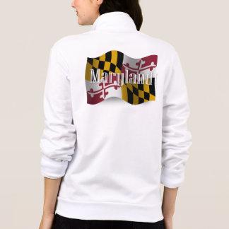 Bandera que agita de Maryland Chaqueta