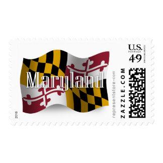 Bandera que agita de Maryland Franqueo
