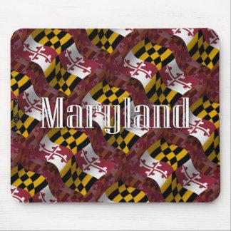 Bandera que agita de Maryland Tapetes De Ratón