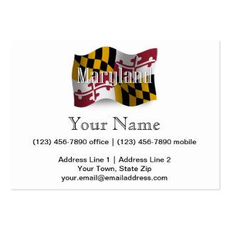 Bandera que agita de Maryland Tarjetas De Visita Grandes
