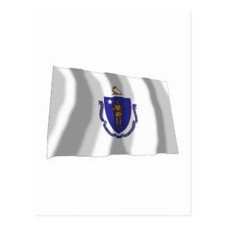 Bandera que agita de Massachusetts Postales