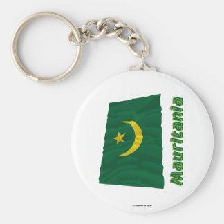 Bandera que agita de Mauritania con nombre Llaveros Personalizados