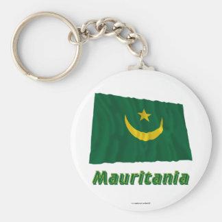 Bandera que agita de Mauritania con nombre Llaveros