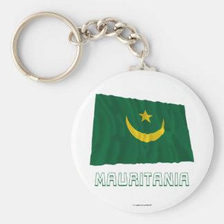 Bandera que agita de Mauritania con nombre Llavero Personalizado