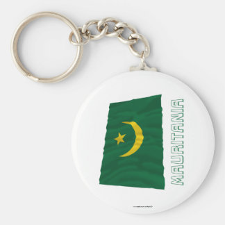 Bandera que agita de Mauritania con nombre Llavero