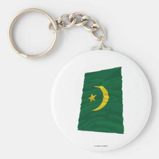 Bandera que agita de Mauritania Llaveros
