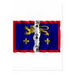 Bandera que agita de Mayenne Postal