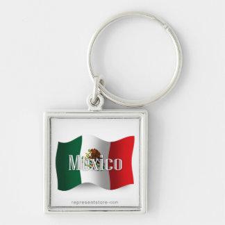 Bandera que agita de México Llavero Personalizado