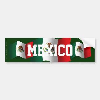 Bandera que agita de México Pegatina Para Auto