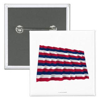 Bandera que agita de Mifflin del fuerte Pin Cuadrada 5 Cm