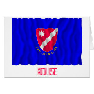 Bandera que agita de Molise con nombre Felicitaciones