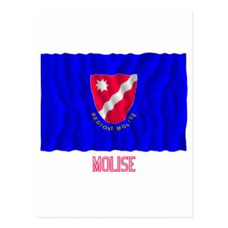 Bandera que agita de Molise con nombre Postal