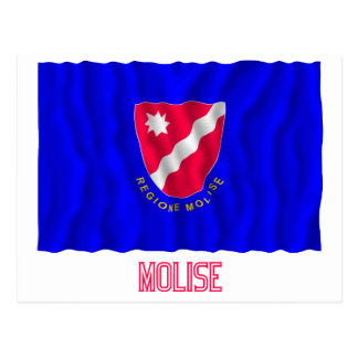 Bandera que agita de Molise con nombre Tarjeta Postal