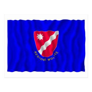 Bandera que agita de Molise Tarjeta Postal