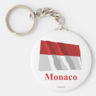 Bandera que agita de Mónaco con nombre Llaveros Personalizados