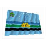 Bandera que agita de Monagas Tarjetas Postales