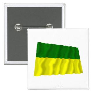 Bandera que agita de Morona-Santiago Pin Cuadrada 5 Cm