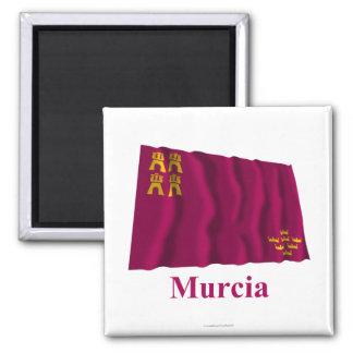 Bandera que agita de Murcia con nombre Imán Cuadrado