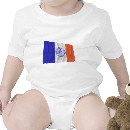 Bandera que agita de New York City Trajes De Bebé