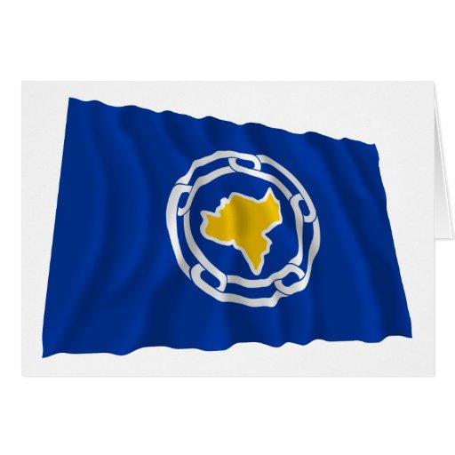 Bandera que agita de Ngeremlengui Tarjeta De Felicitación