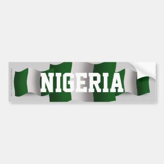 Bandera que agita de Nigeria Pegatina Para Auto